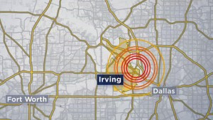 Irving, Texas Earthquakes