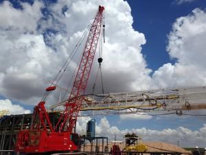Oil Drilling Site Setup