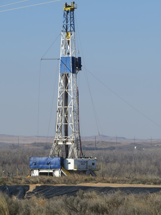 Shale Oil Well in West Texas