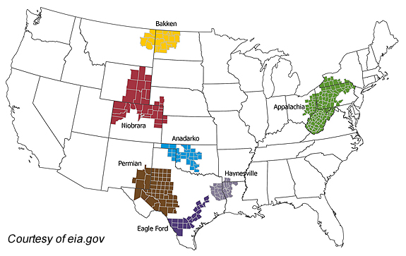 Top Producing US Shale Regions